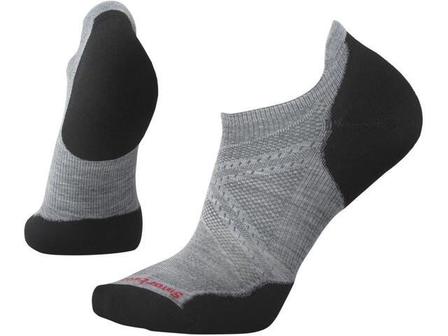 Smartwool PhD Run Light Elite Micro Socken light gray/black